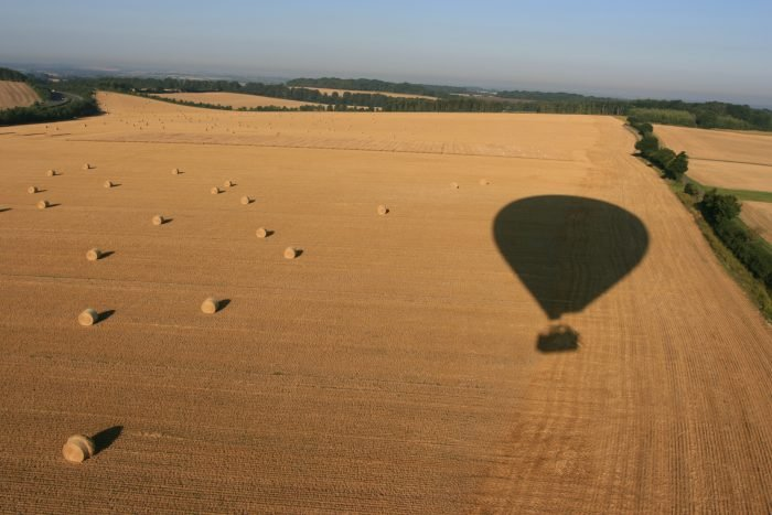 Our shadow crossing the fields