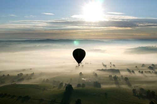 Early Morning Misty Balloon Ride